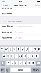 Apple iPhone 5s - iOS 8 - E-mail - Manual configuration IMAP without SMTP verification - Step 13