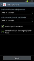 Samsung Galaxy Note II - E-Mail - Manuelle Konfiguration - Schritt 14