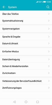 Huawei Honor 9 Lite - Fehlerbehebung - Handy zurücksetzen - 8 / 12