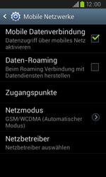 Samsung Galaxy S2 Plus - Netzwerk - Netzwerkeinstellungen ändern - 2 / 2