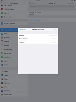 Apple iPad Pro 12.9 inch - iOS 11 - Anmeldedaten hinzufügen/entfernen - 6 / 12