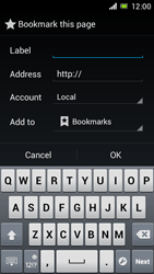 Sony Xperia J - Internet and data roaming - Using the Internet - Step 9