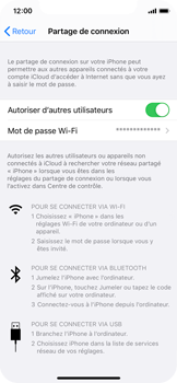 Apple iPhone XS - iOS 14 - WiFi - Comment activer un point d'accès WiFi - Étape 8