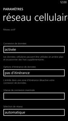 Nokia Lumia 1320 - Internet et roaming de données - Désactivation du roaming de données - Étape 7