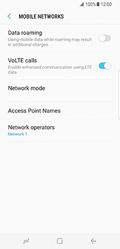 Samsung Galaxy S8 - Network - Manual network selection - Step 11
