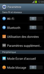 Samsung Galaxy S III Mini - Internet et roaming de données - Comment vérifier que la connexion des données est activée - Étape 4