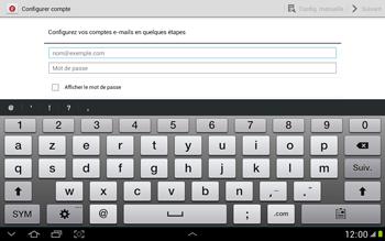 Samsung N8000 Galaxy Note 10-1 - E-mail - Configuration manuelle - Étape 5