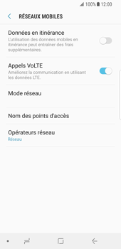 Samsung Galaxy S8 - Android Oreo - Réseau - Sélection manuelle du réseau - Étape 8
