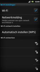 Sony ST25i Xperia U - WiFi - Handmatig instellen - Stap 8