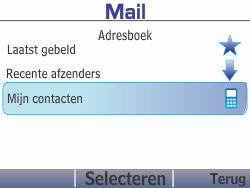 Nokia Asha 210 - E-mail - E-mails verzenden - Stap 8