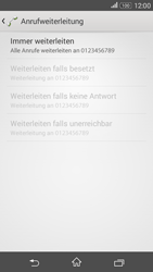 Sony E2003 Xperia E4G - Anrufe - Rufumleitungen setzen und löschen - Schritt 8