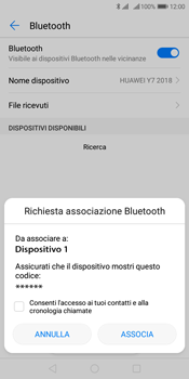 Huawei Y7 (2018) - Bluetooth - Collegamento dei dispositivi - Fase 7