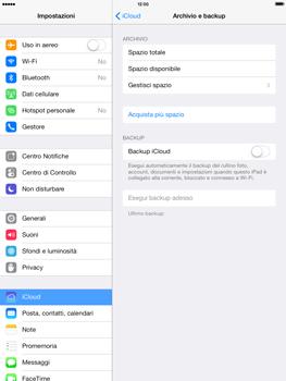 Apple iPad mini iOS 7 - Applicazioni - Configurazione del servizio Apple iCloud - Fase 10