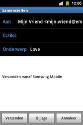 Samsung S5830i Galaxy Ace i - E-mail - Hoe te versturen - Stap 9