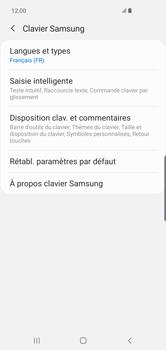 Samsung Galaxy S10 Plus - Prise en main - Comment ajouter une langue de clavier - Étape 8