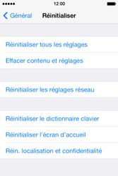 Apple iPhone 4 S iOS 7 - Téléphone mobile - réinitialisation de la configuration d