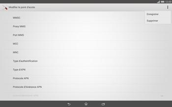 Sony Xperia Tablet Z2 LTE - MMS - Configuration manuelle - Étape 15