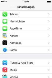Apple iPhone 4 S mit iOS 7 - Anrufe - Rufumleitungen setzen und löschen - Schritt 3