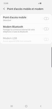 Samsung Galaxy S10 Plus - Internet et connexion - Utiliser le mode modem par USB - Étape 6