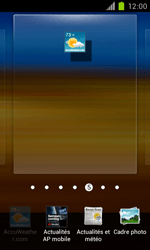 Samsung Galaxy S II - Prise en main - Installation de widgets et d