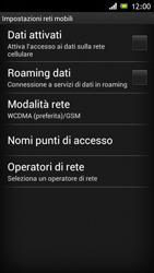 Sony Xperia J - Internet e roaming dati - Configurazione manuale - Fase 6
