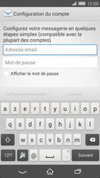 Sony Xperia Z2 - E-mail - configuration manuelle - Étape 5