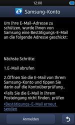 Samsung Wave 3 - Apps - Konto anlegen und einrichten - 2 / 2