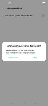 Oppo Find X2 Pro - Netzwerk - Manuelle Netzwerkwahl - Schritt 8