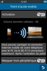 Samsung Wave M - Internet et connexion - Partager votre connexion en Wi-Fi - Étape 8