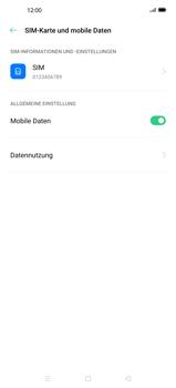 Oppo Find X2 - Internet und Datenroaming - Deaktivieren von Datenroaming - Schritt 5