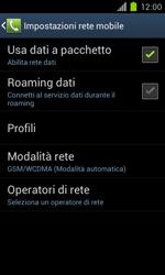 Samsung Galaxy S II - Internet e roaming dati - Disattivazione del roaming dati - Fase 7