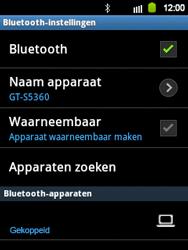 Samsung S5360 Galaxy Y - Bluetooth - headset, carkit verbinding - Stap 9