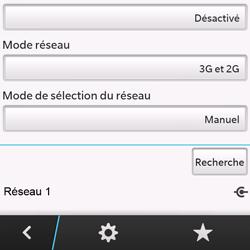 BlackBerry Q10 - Réseau - Sélection manuelle du réseau - Étape 11
