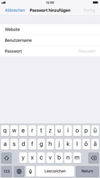 Apple iPhone 7 Plus - iOS 11 - Anmeldedaten hinzufügen/entfernen - 0 / 0