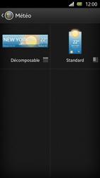 Sony Xperia U - Prise en main - Installation de widgets et d