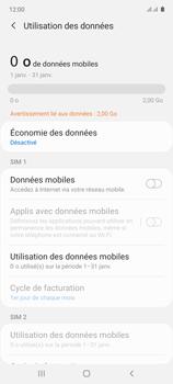 Samsung Galaxy Note 10 Lite - Internet et connexion - Désactiver la connexion Internet - Étape 7