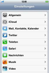 Apple iPhone 3GS - Fehlerbehebung - Handy zurücksetzen - 5 / 10