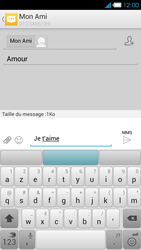 Bouygues Telecom Ultym 4 - Contact, Appels, SMS/MMS - Envoyer un MMS - Étape 12