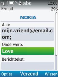 Nokia C2-01 - E-mail - e-mail versturen - Stap 8