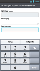 LG P760 Optimus L9 - e-mail - handmatig instellen - stap 10