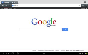 Samsung Galaxy Tab 2 10.1 - Internet et roaming de données - Navigation sur Internet - Étape 9