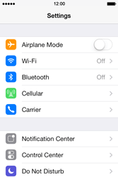 Apple iPhone 4S iOS 7 - WiFi - WiFi configuration - Step 3