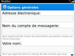 BlackBerry 9320 - E-mails - Ajouter ou modifier un compte e-mail - Étape 13