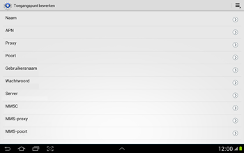 Samsung N8000 Galaxy Note 10-1 - Internet - Handmatig instellen - Stap 9