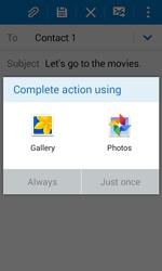 Samsung J100H Galaxy J1 - E-mail - Sending emails - Step 12