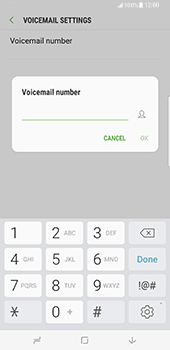 Samsung Galaxy S8 Plus - Voicemail - Manual configuration - Step 8