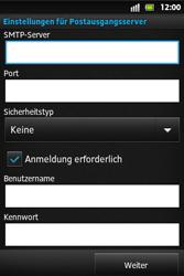 Sony Xperia Go - E-Mail - Konto einrichten - Schritt 12
