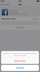 Apple iPhone 6 iOS 9 - Applicazioni - Come disinstallare un