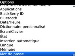 BlackBerry curve 3G - Sécuriser votre mobile - Activer le code de verrouillage - Étape 4