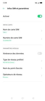 Oppo A15 - Internet et connexion - Activer la 4G - Étape 8